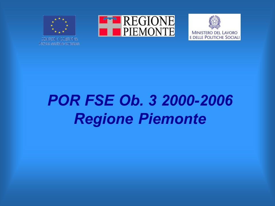 POR FSE Ob. 3 2000-2006 Regione Piemonte