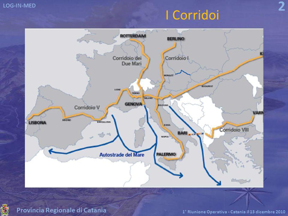 Provincia Regionale di Catania LOG-IN-MED 1° Riunione Operativa - Catania il 13 dicembre 2010 13 LOG-IN-MED acquisisce dagli enti gestori tutti i dati necessari alla composizione dei viaggi delle merci allinterno del grafo della rete intermodale definito, combinando percorsi e modi.