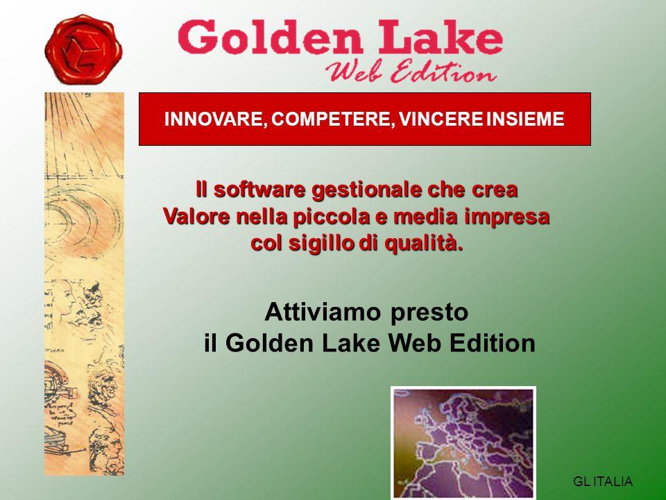 INNOVARE, COMPETERE, VINCERE INSIEME GL ITALIA Il software gestionale che crea Valore nella piccola e media impresa col sigillo di qualità.