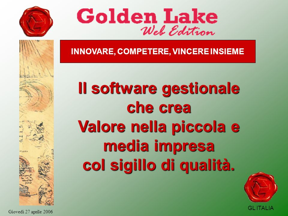 GL ITALIA La versione 6.0 Web Edition Golden Lake vers.