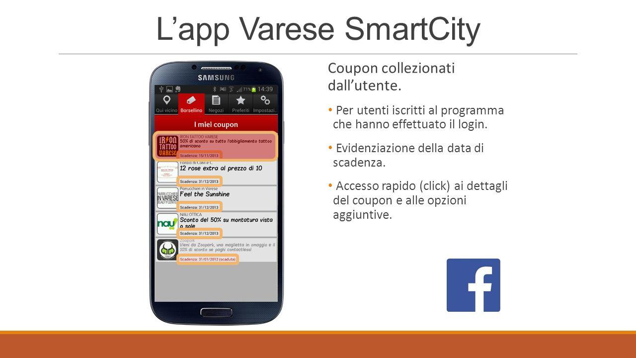 Lapp Varese SmartCity Raggruppamento dei negozi per categorie.