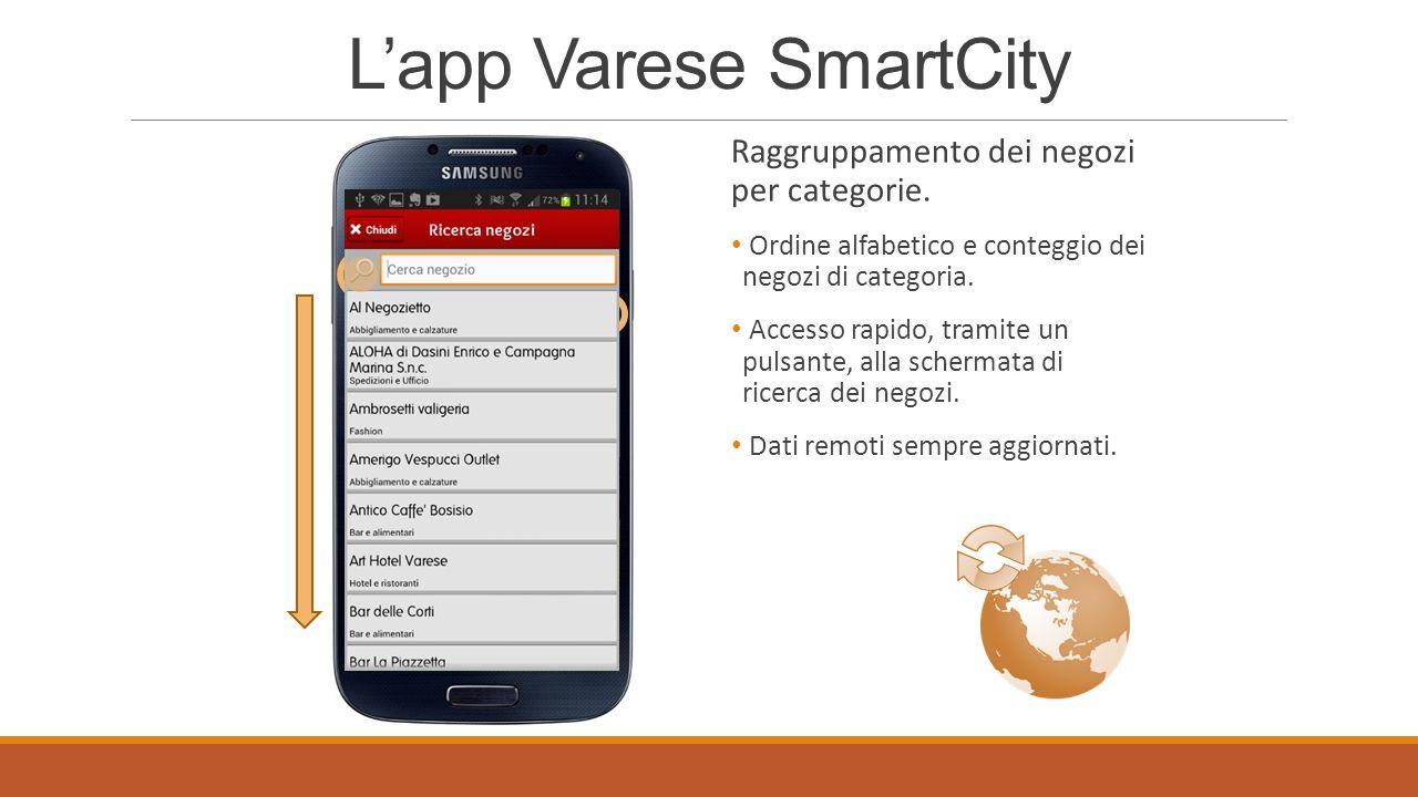 Lapp Varese SmartCity Dettagli negozi.Collegamenti automatici a sito web e contatti.