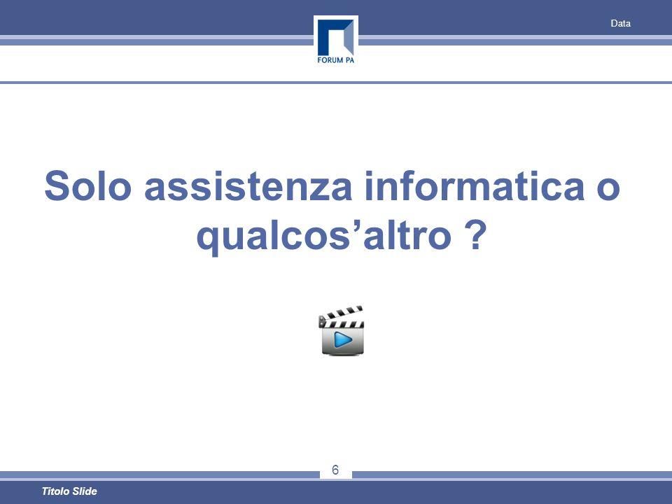 Solo assistenza informatica o qualcosaltro Data 6 Titolo Slide
