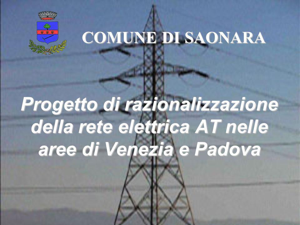 Progetto di razionalizzazione della rete elettrica AT nelle aree di Venezia e Padova COMUNE DI SAONARA
