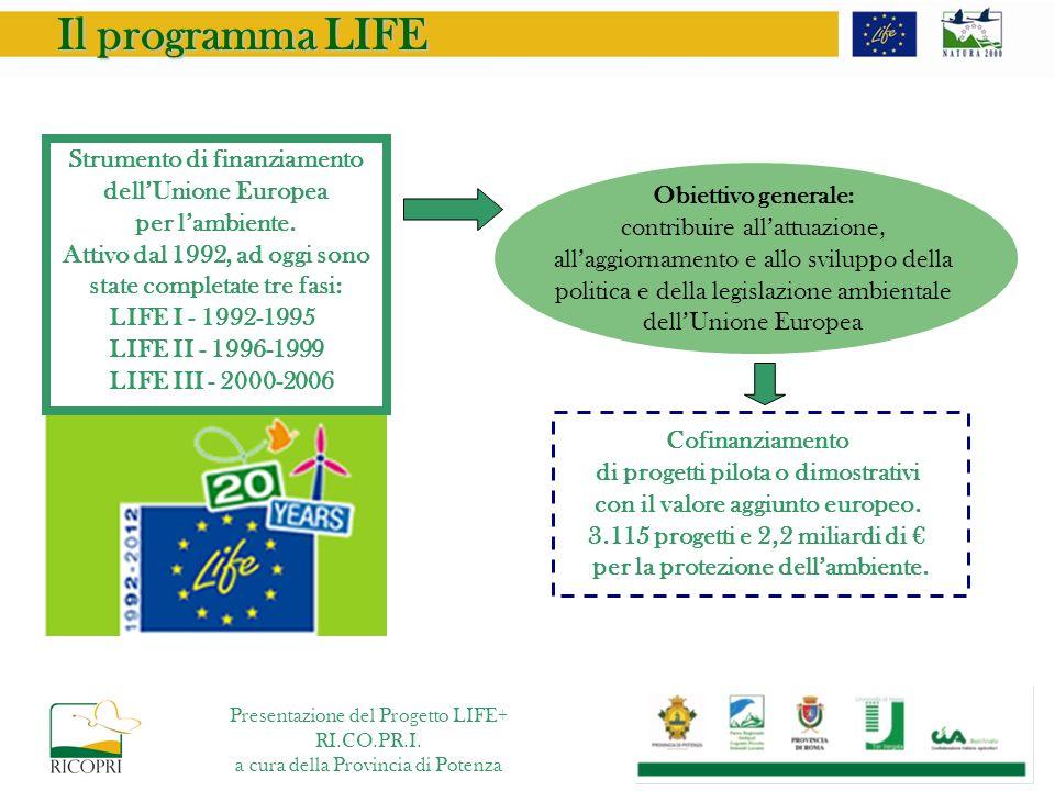 SIC Monte Guadagnolo – Provincia di Roma Superficie totale del SIC ettari 569 10% habitat 6210* 30% habitat 6220* 60% altri habitat Sito Natura 2000 - IT6030035 Presentazione del Progetto LIFE+ RI.CO.PR.I.
