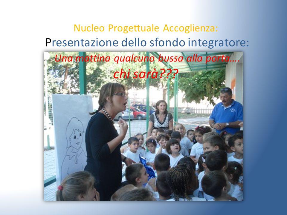 Nucleo Progettuale Accoglienza: Presentazione dello sfondo integratore: Una mattina qualcuno bussa alla porta….