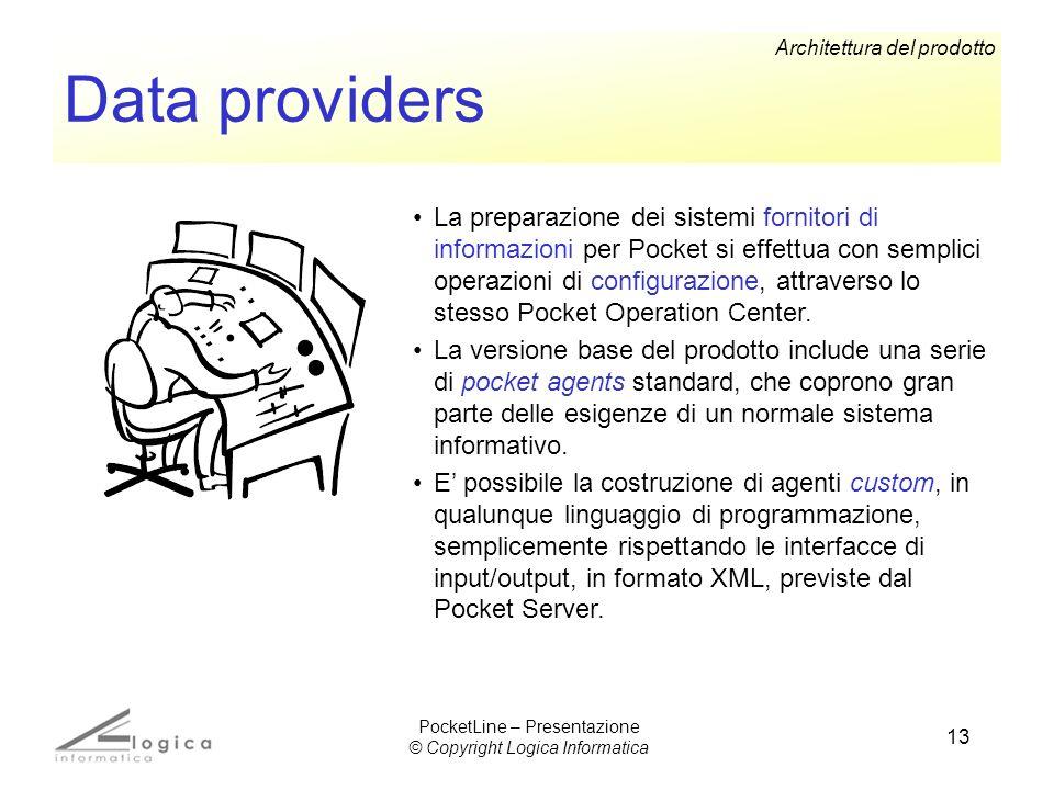 13 Data providers La preparazione dei sistemi fornitori di informazioni per Pocket si effettua con semplici operazioni di configurazione, attraverso l