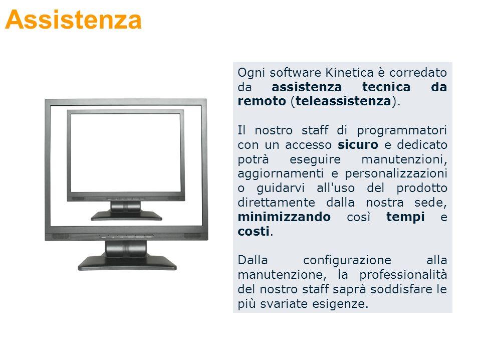 Ogni software Kinetica è corredato da assistenza tecnica da remoto (teleassistenza).