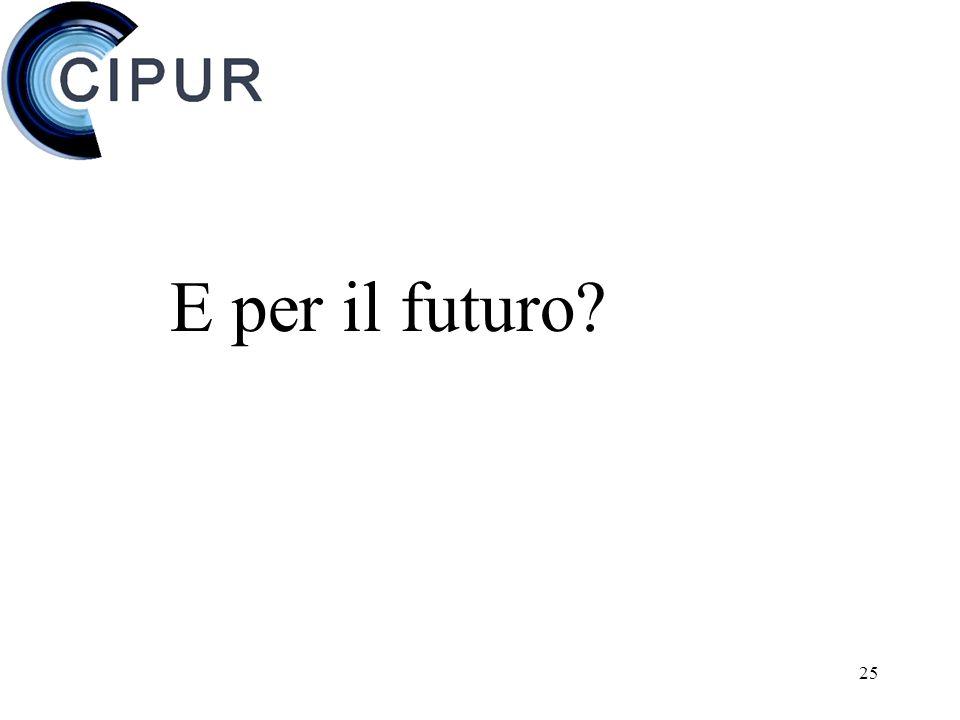 25 E per il futuro?