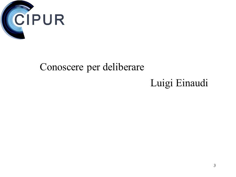 3 Conoscere per deliberare Luigi Einaudi