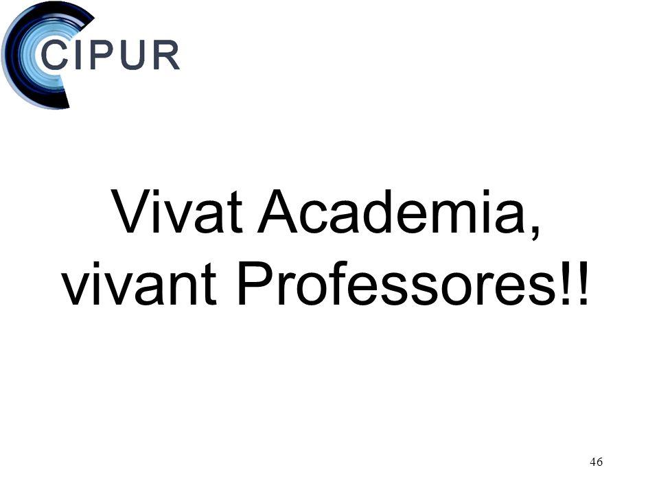 46 Vivat Academia, vivant Professores!!