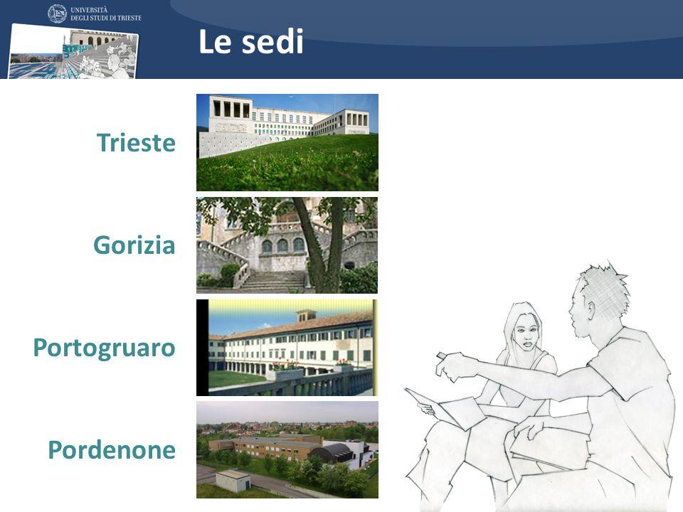 Le sedi Trieste Gorizia Portogruaro Pordenone