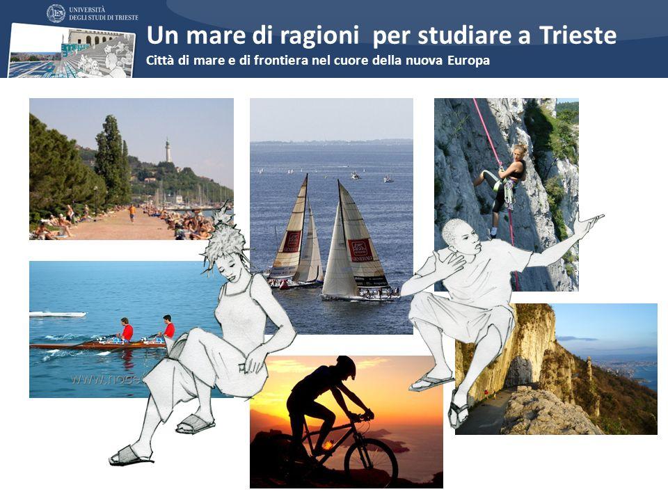 Perché studiare a Trieste? Un mare di ragioni per studiare a Trieste Città di mare e di frontiera nel cuore della nuova Europa
