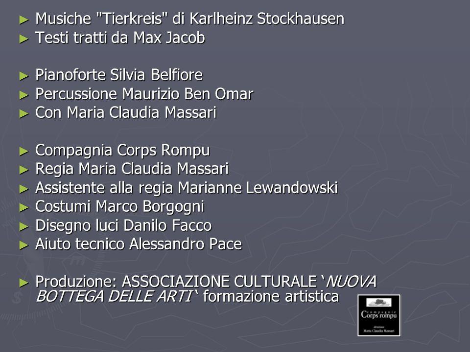 ZODIACO Tierkreis : un pezzo che Stockhausen dedica all Astrologia.