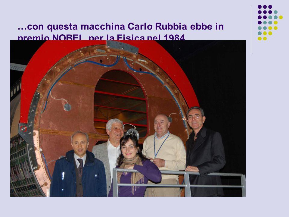 …con questa macchina Carlo Rubbia ebbe in premio NOBEL per la Fisica nel 1984