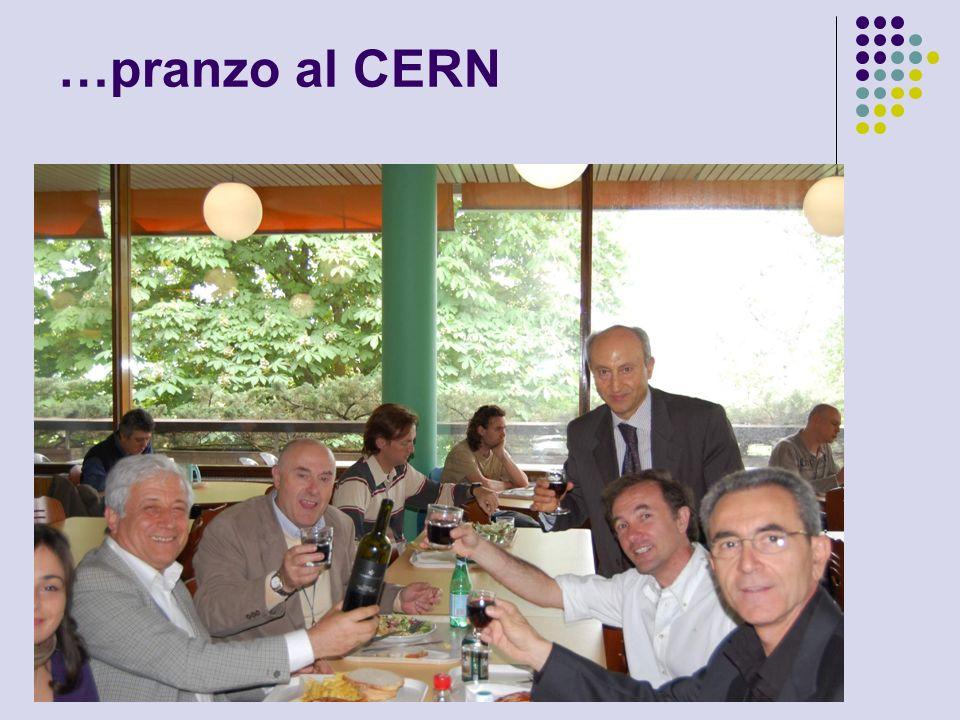 …pranzo al CERN