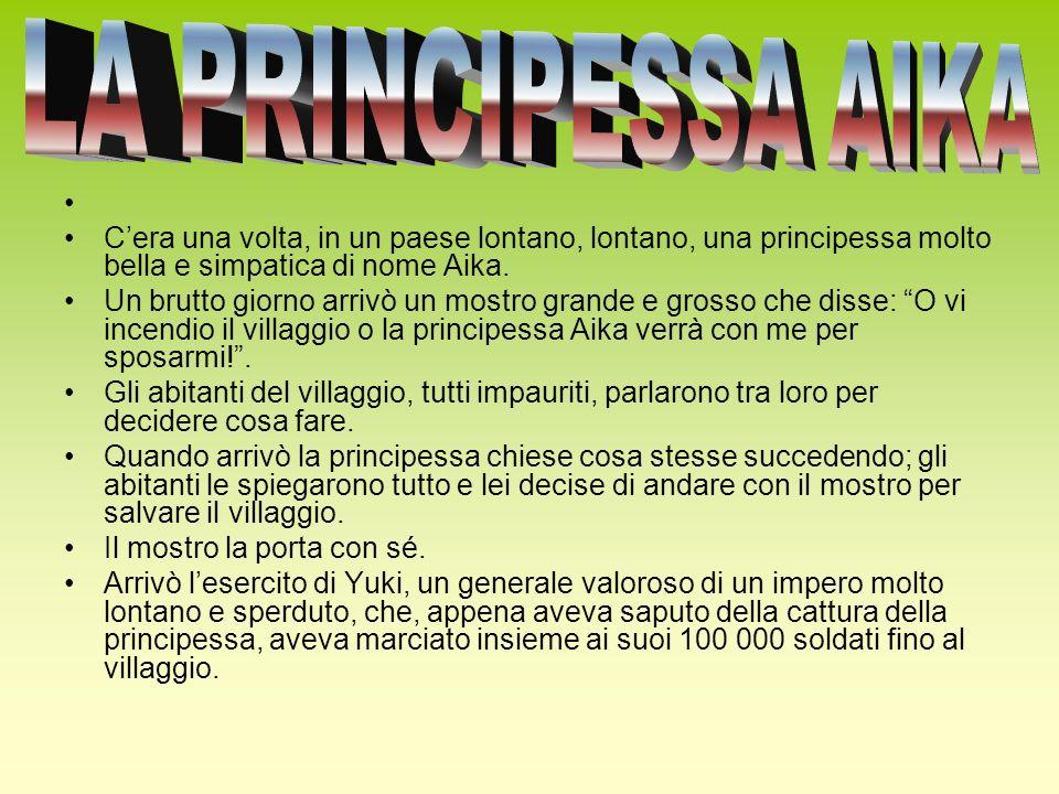 Cera una volta, in un paese lontano, lontano, una principessa molto bella e simpatica di nome Aika. Un brutto giorno arrivò un mostro grande e grosso