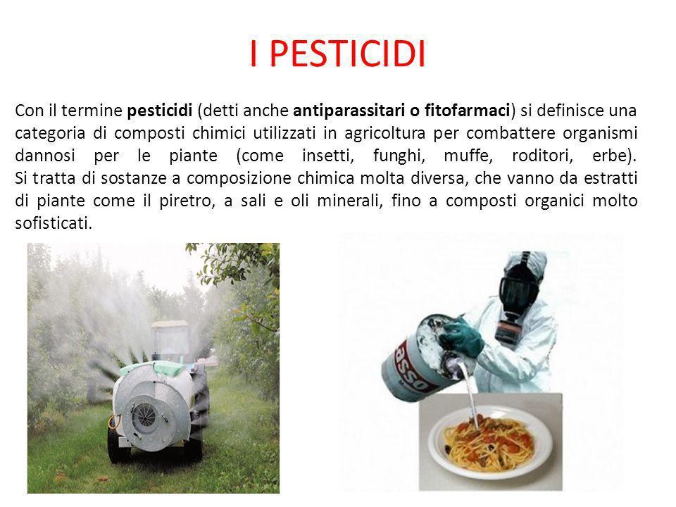 Vedremo adesso i vari tipi di fertilizzanti e pesticidi utilizzati in agricoltura e le patologie ad esse ricollegabili.