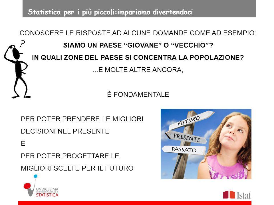 FALSO LE FAMIGLIE ITALIANE OGGI SONO MOLTO NUMEROSE 9 Statistica per i più piccoli:impariamo divertendoci