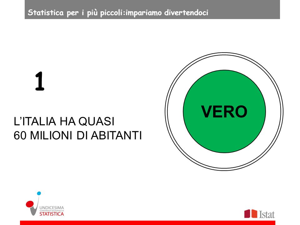 FALSO TUTTI GLI ITALIANI CHE HANNO PIÙ DI SEI ANNI SANNO LEGGERE E SCRIVERE 10 Statistica per i più piccoli:impariamo divertendoci