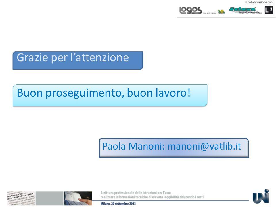 Grazie per lattenzione Buon proseguimento, buon lavoro! Paola Manoni: manoni@vatlib.it