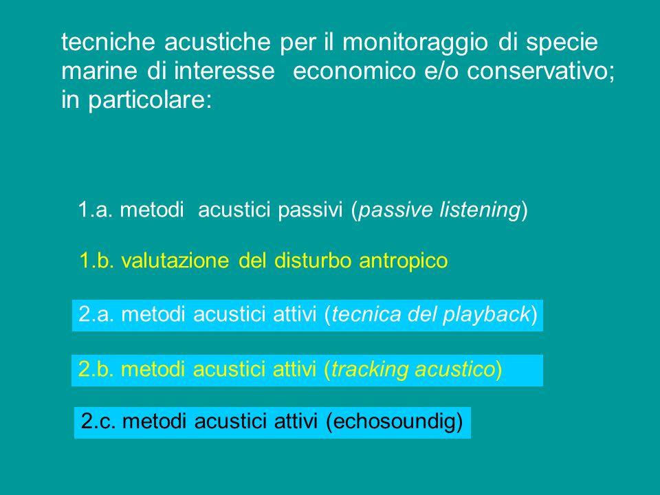 Metodologie acustiche applicate allo studio e alla gestione di specie target