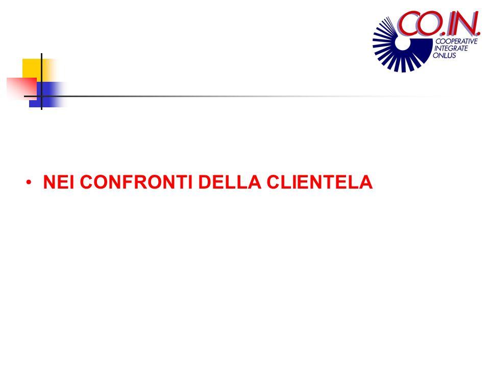 NEI CONFRONTI DELLA CLIENTELA First