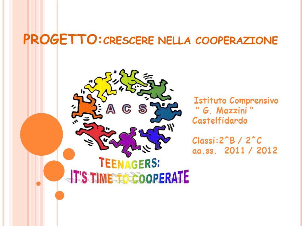 PROGETTO: CRESCERE NELLA COOPERAZIONE Istituto Comprensivo G.