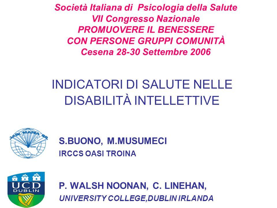 POMONA II Promuovere in Europa la qualità della vita e della condizione della salute delle persone con DI attraverso la costruzione dellinformazione e della conoscenza sulla loro condizione di salute