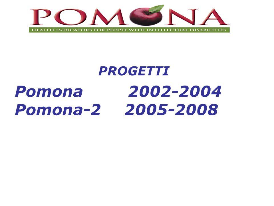 PROGETTI Pomona 2002-2004 Pomona-2 2005-2008
