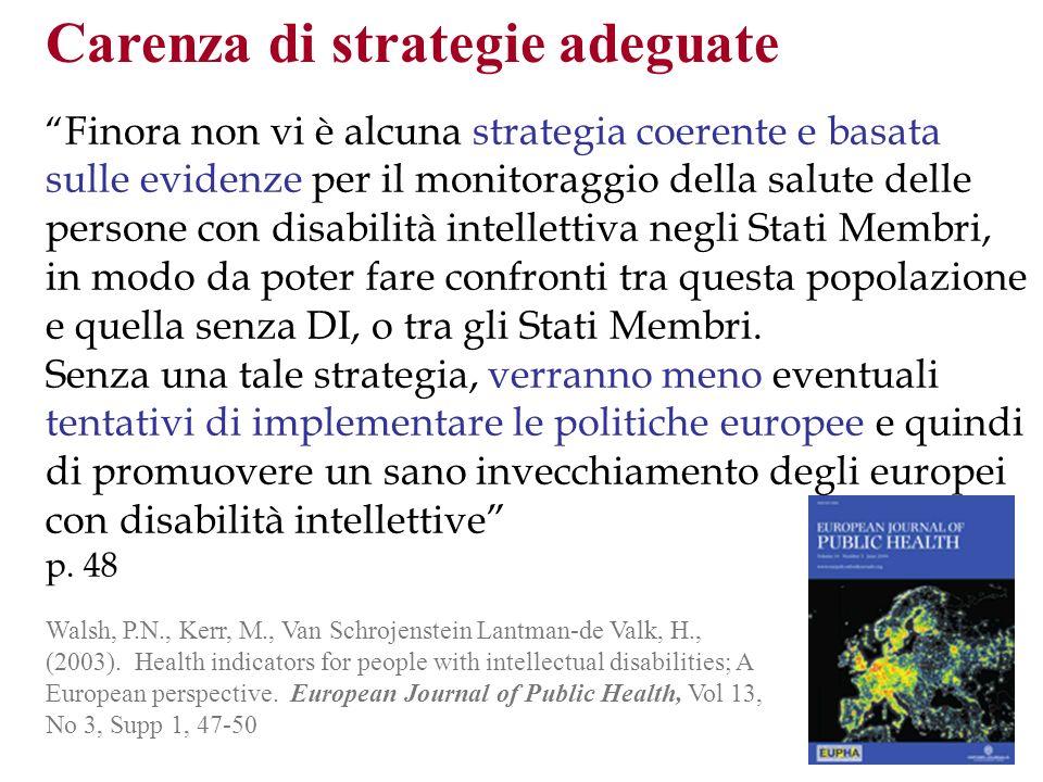 Walsh, P.N., Kerr, M., Van Schrojenstein Lantman-de Valk, H., (2003). Health indicators for people with intellectual disabilities; A European perspect