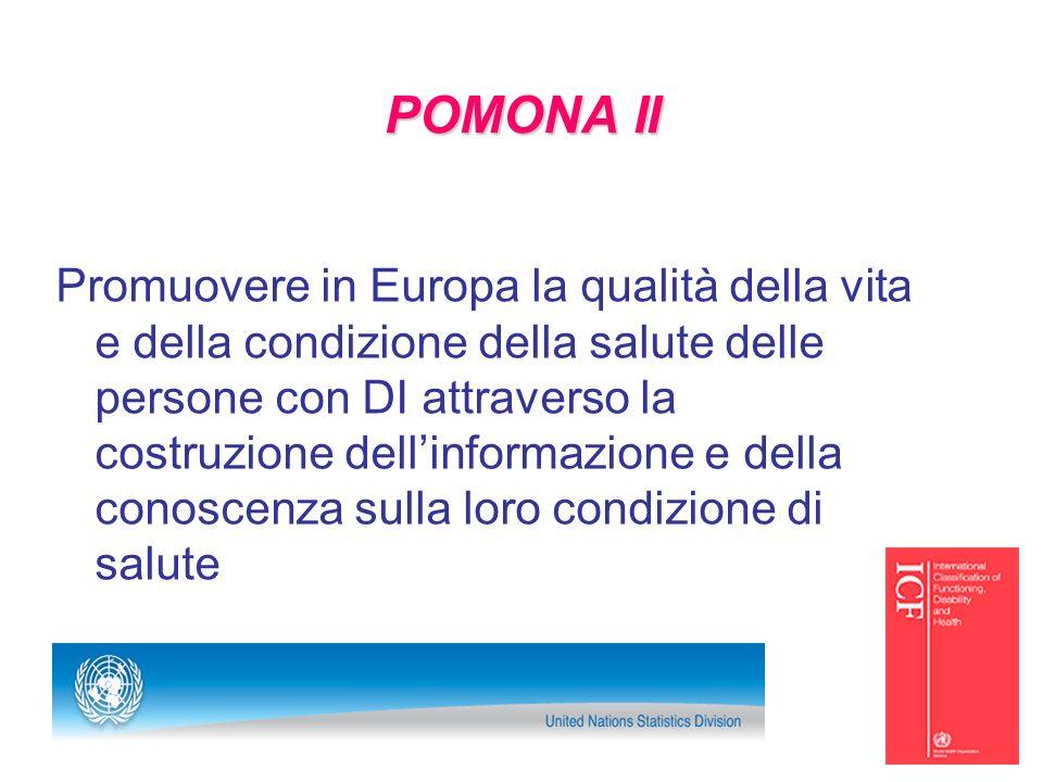 POMONA II Promuovere in Europa la qualità della vita e della condizione della salute delle persone con DI attraverso la costruzione dellinformazione e