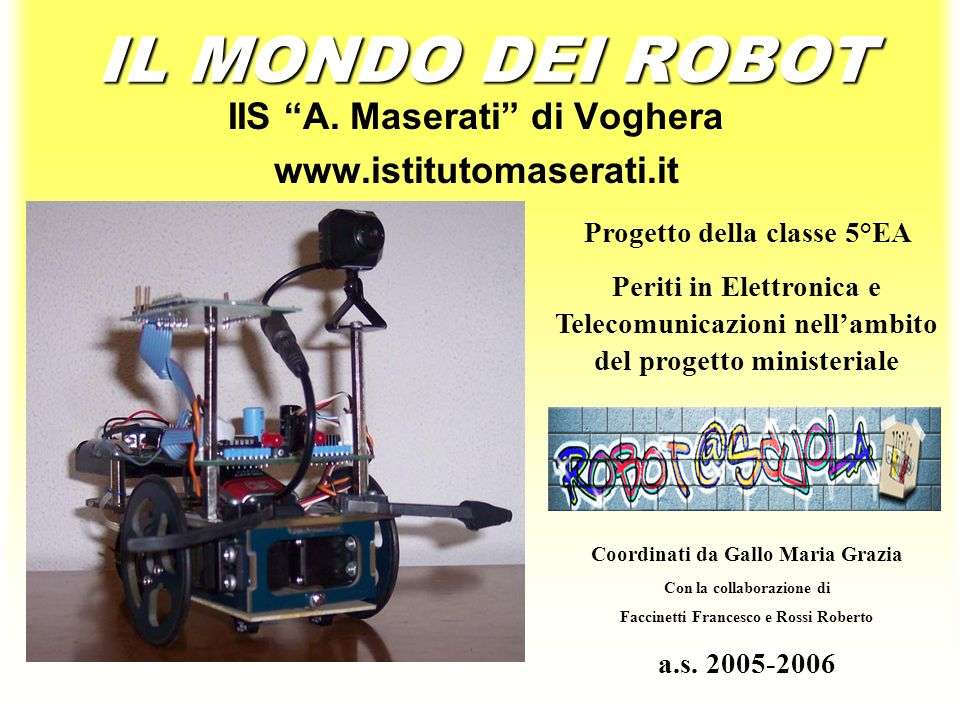 IL MONDO DEI ROBOT IIS A.
