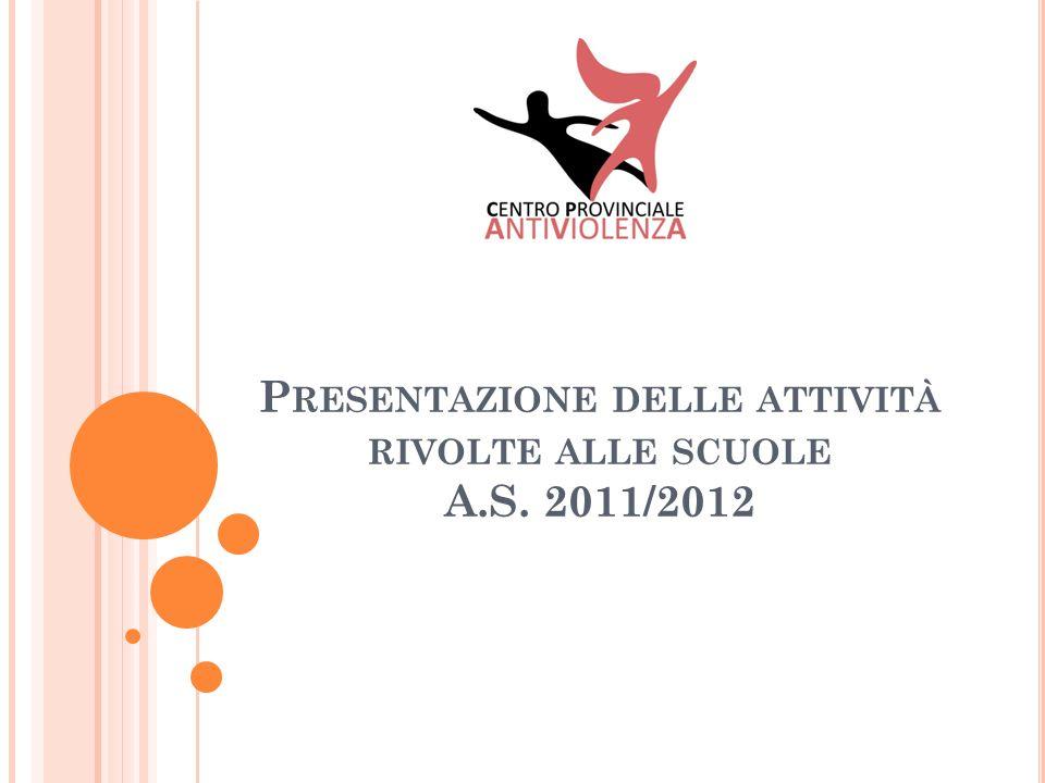 P RESENTAZIONE DELLE ATTIVITÀ RIVOLTE ALLE SCUOLE A.S. 2011/2012