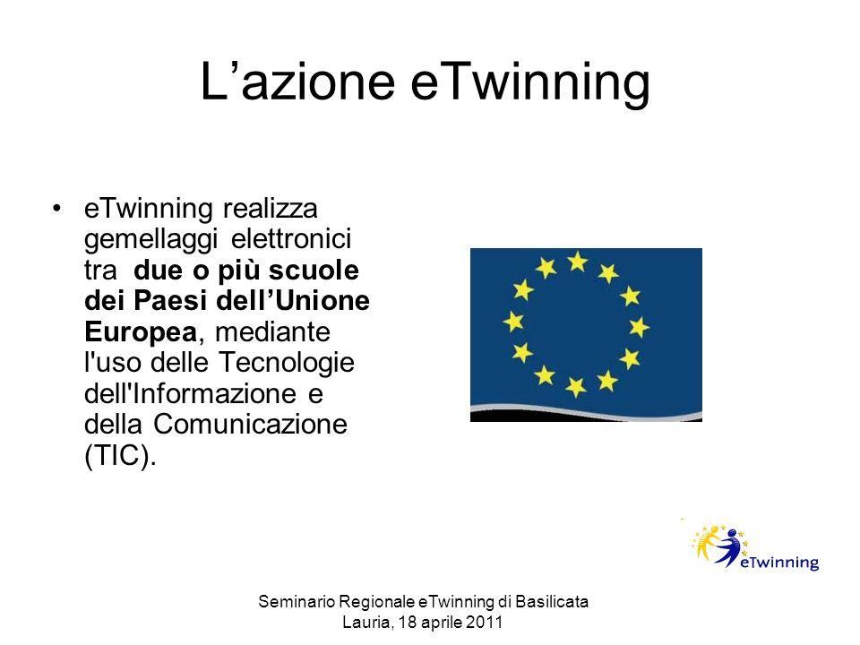 Lazione eTwinning eTwinning realizza gemellaggi elettronici tra due o più scuole dei Paesi dellUnione Europea, mediante l'uso delle Tecnologie dell'In