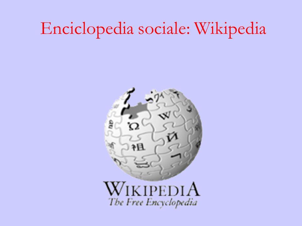 Enciclopedia sociale: Wikipedia