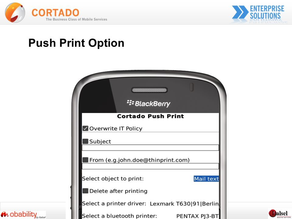 Push Print Option