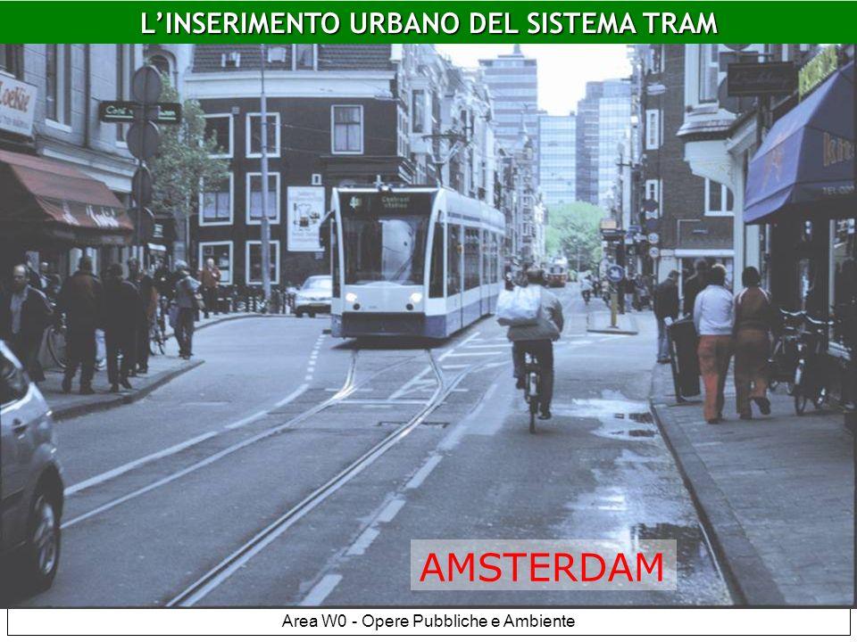LINSERIMENTO URBANO DEL SISTEMA TRAM Area W0 - Opere Pubbliche e Ambiente Amsterdam DEN HAAG LINSERIMENTO URBANO DEL SISTEMA TRAM AMSTERDAM