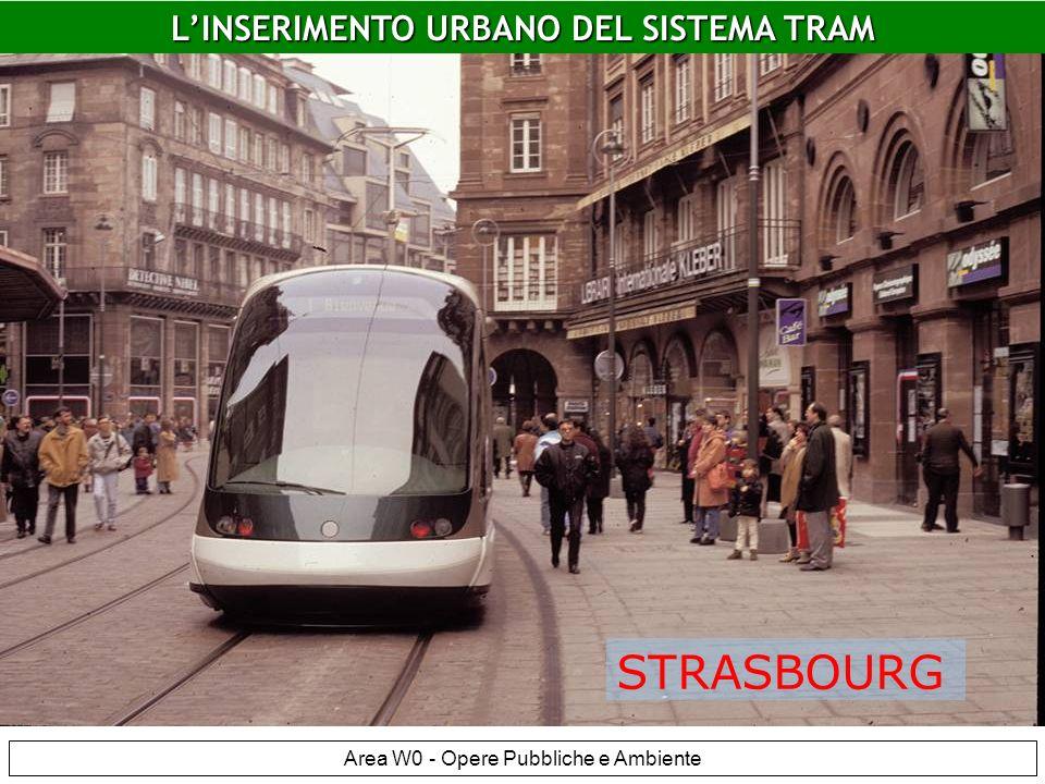 LINSERIMENTO URBANO DEL SISTEMA TRAM Area W0 - Opere Pubbliche e Ambiente Strasburgo LINSERIMENTO URBANO DEL SISTEMA TRAM STRASBOURG