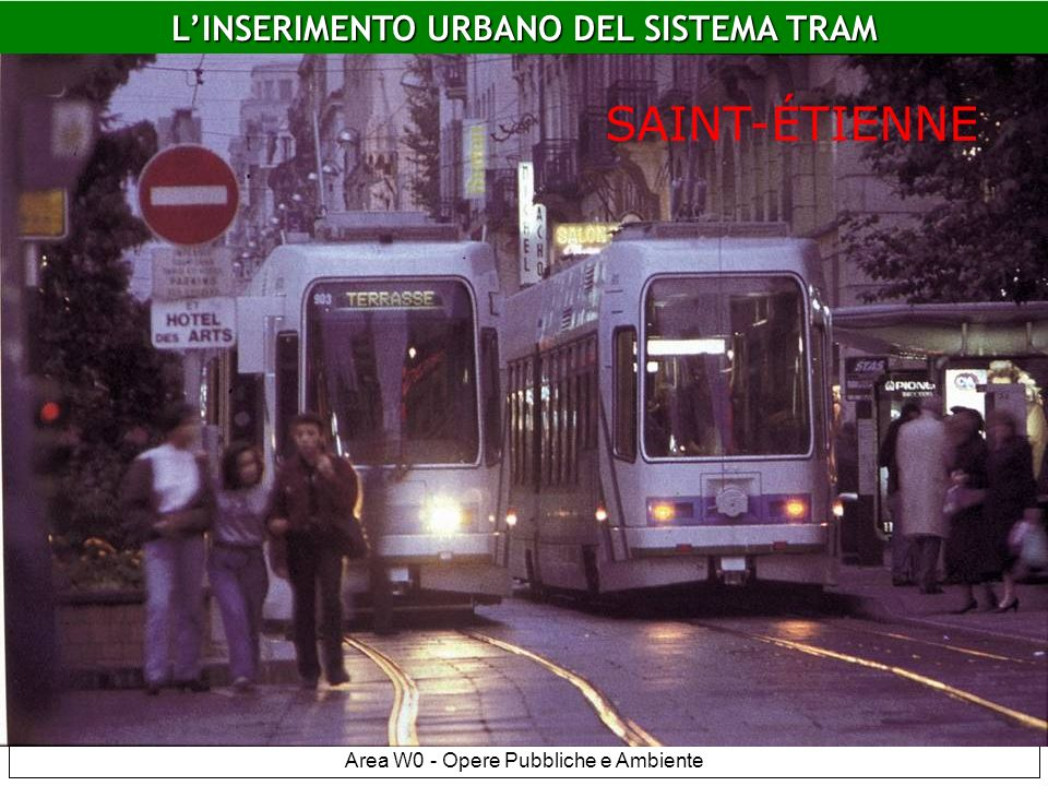 Area W0 - Opere Pubbliche e Ambiente Saint Etiennne LINSERIMENTO URBANO DEL SISTEMA TRAM SAINT-ÉTIENNE