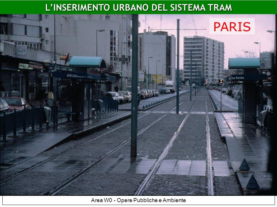 LINSERIMENTO URBANO DEL SISTEMA TRAM Area W0 - Opere Pubbliche e Ambiente Paris LINSERIMENTO URBANO DEL SISTEMA TRAM PARIS