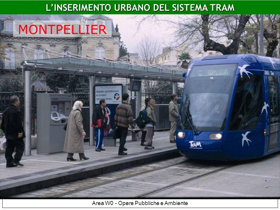 Area W0 - Opere Pubbliche e Ambiente Montpellier LINSERIMENTO URBANO DEL SISTEMA TRAM MONTPELLIER