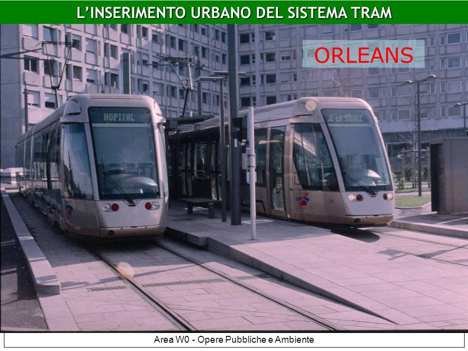 Area W0 - Opere Pubbliche e Ambiente Orleans LINSERIMENTO URBANO DEL SISTEMA TRAM ORLEANS