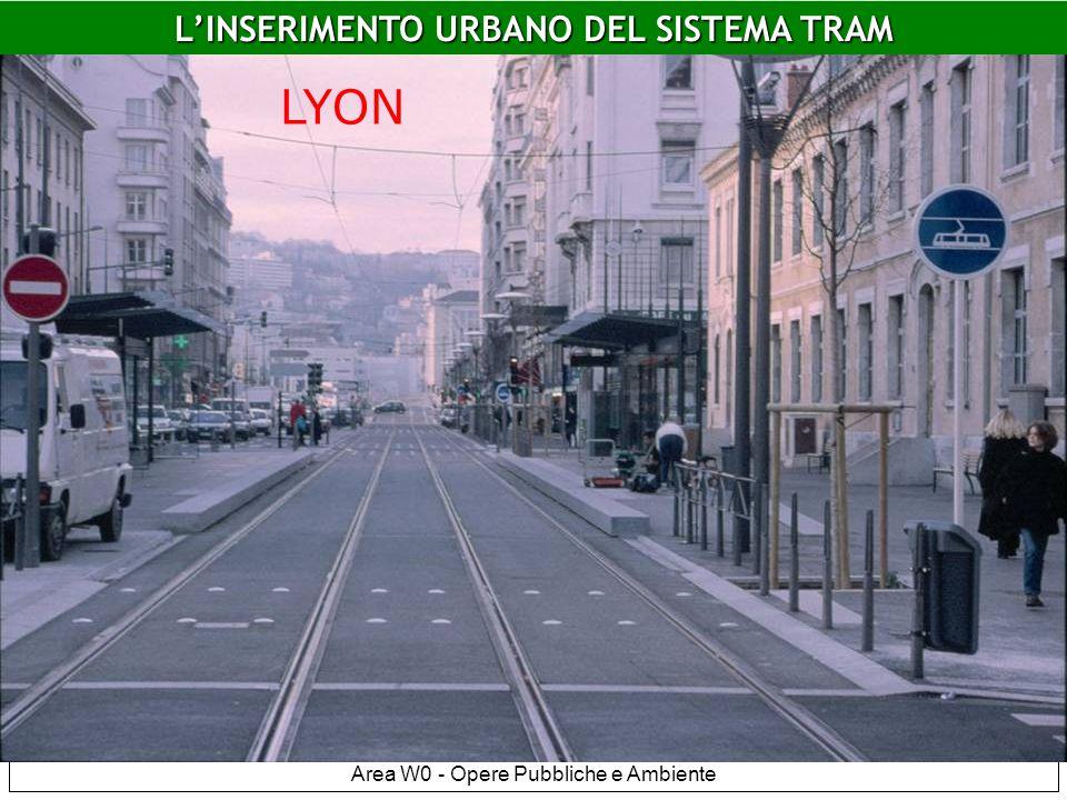Area W0 - Opere Pubbliche e Ambiente Lyon LINSERIMENTO URBANO DEL SISTEMA TRAM LYON