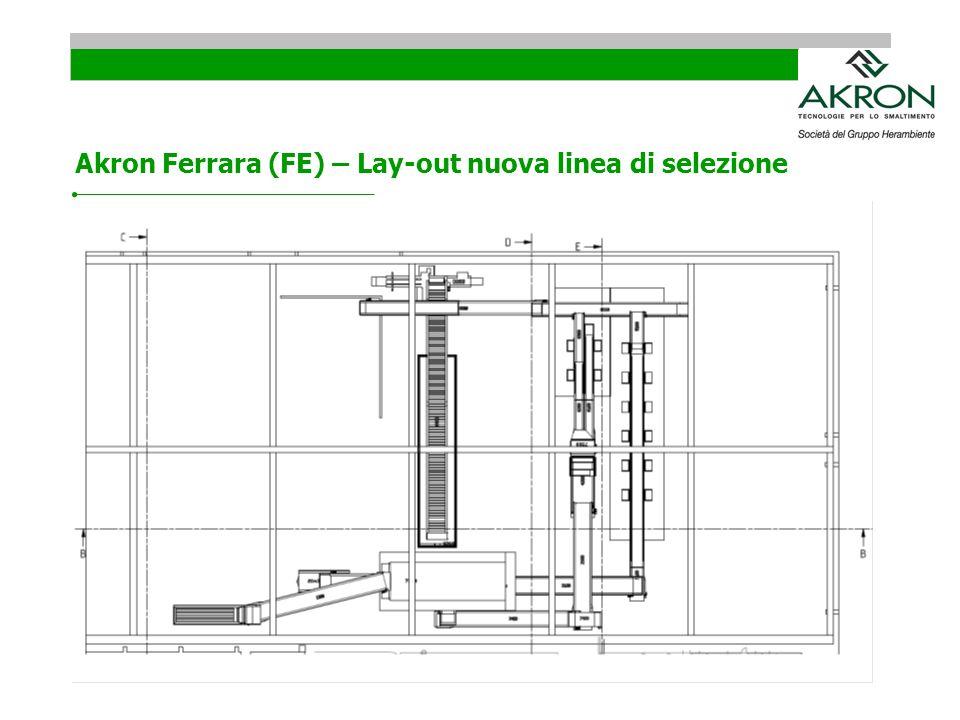 Akron Ferrara (FE) – Lay-out nuova linea di selezione
