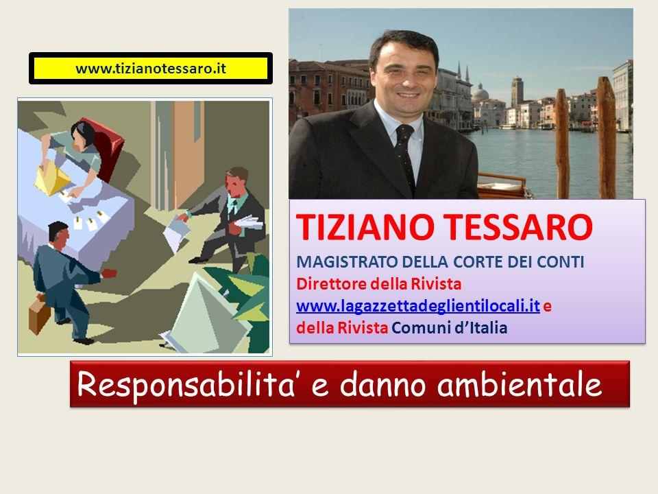 www.tizianotessaro.it TIZIANO TESSARO MAGISTRATO DELLA CORTE DEI CONTI Direttore della Rivista www.lagazzettadeglientilocali.itwww.lagazzettadeglienti