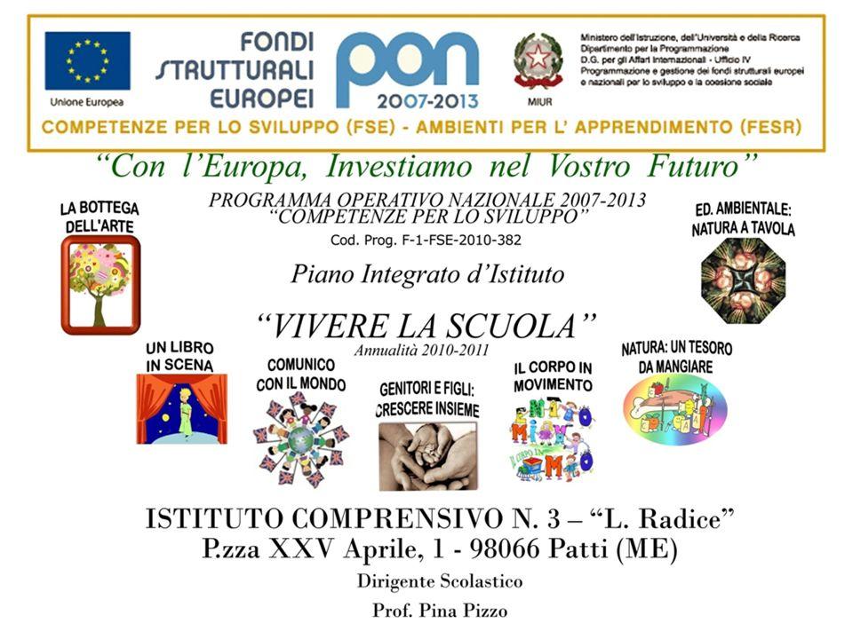 RELAZIONE Docente Facilitatore/Animatore: Graziella Sidoti PON - F-1-FSE-2010-382