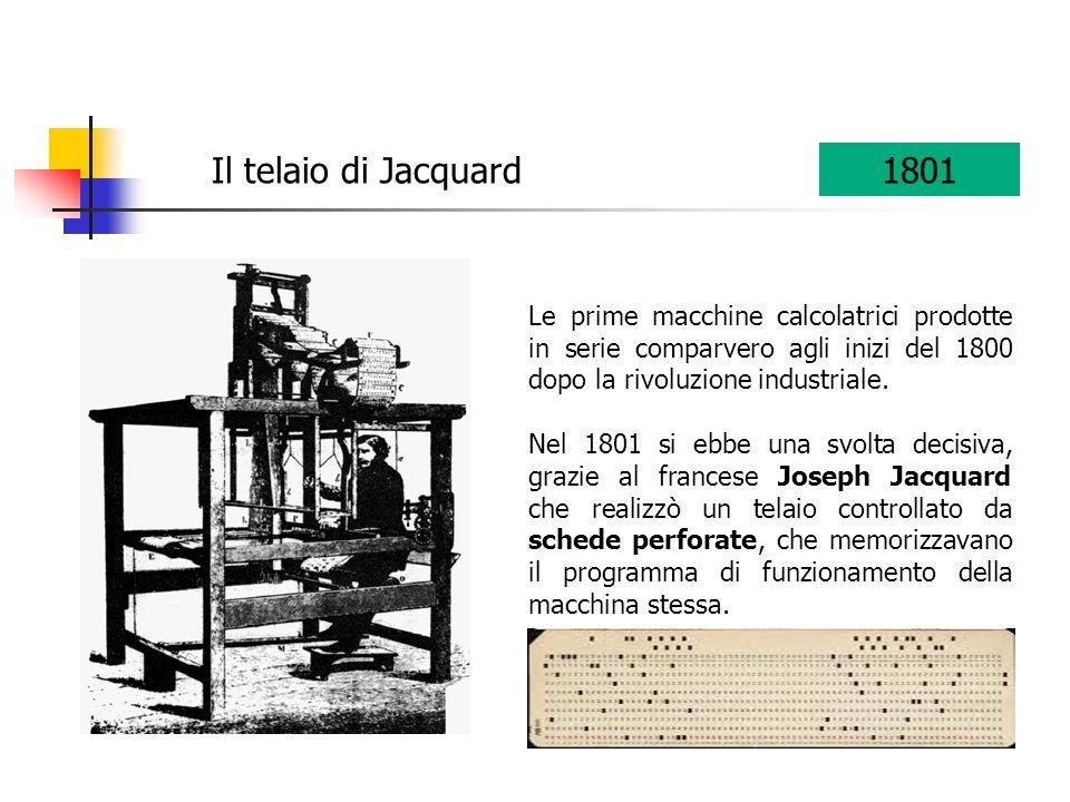 Le prime macchine calcolatrici prodotte in serie comparvero agli inizi del 1800 dopo la rivoluzione industriale. Nel 1801 si ebbe una svolta decisiva,