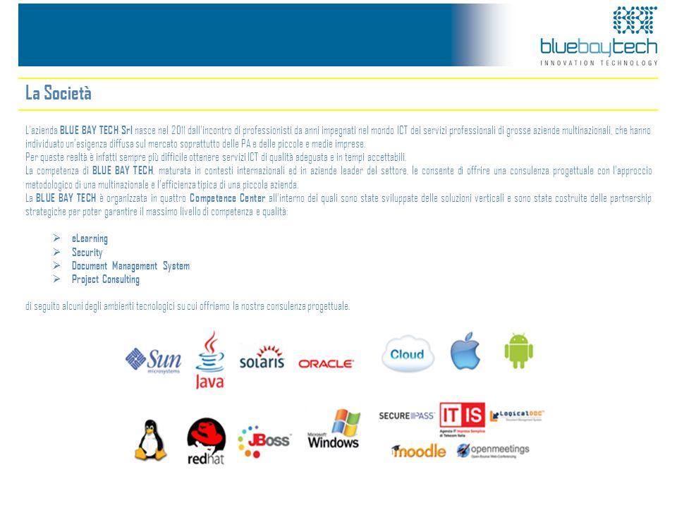 La Società L'azienda BLUE BAY TECH Srl nasce nel 2011 dallincontro di professionisti da anni impegnati nel mondo ICT dei servizi professionali di gros