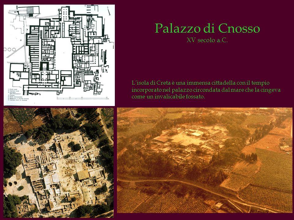 Palazzo di Cnosso XV secolo a.C. Lisola di Creta è una immensa cittadella con il tempio incorporato nel palazzo circondata dal mare che la cingeva com